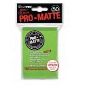 Ultra Pro Matte Lime Green 50 Sleeves - 12 Packs