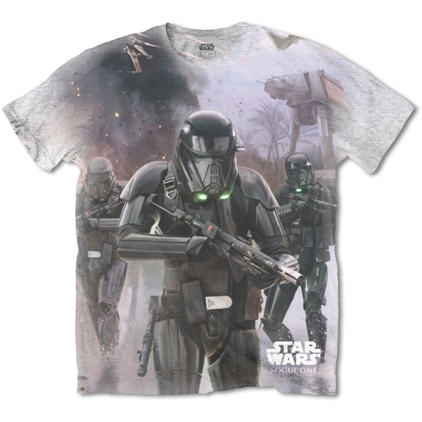 Star Wars - Rogue One Death Trooper Unisex X-Large T-Shirt - Sublimated,White