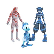 Space Paranoids Sora Donald And Sark (Kingdom Hearts) Action Figure