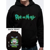 Rick And Morty - Riggity Riggity Men's Medium Hooded Sweatshirt - Black