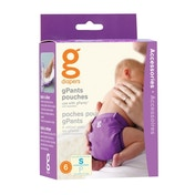 Gnappies Gpant Medium/Large/X-Large Extra Pouches (6 Pouches In A Pack)