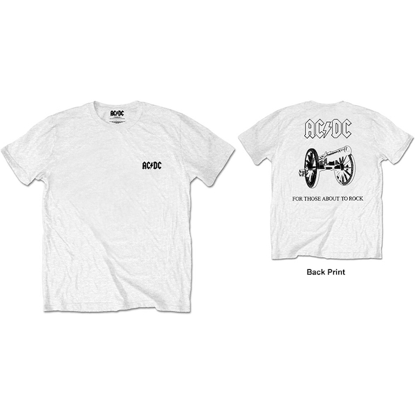 AC/DC - About To Rock Men's XX-Large T-Shirt - White