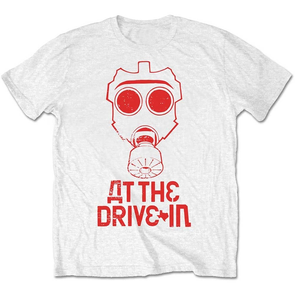 At The Drive-In - Mask Unisex Medium T-Shirt - White