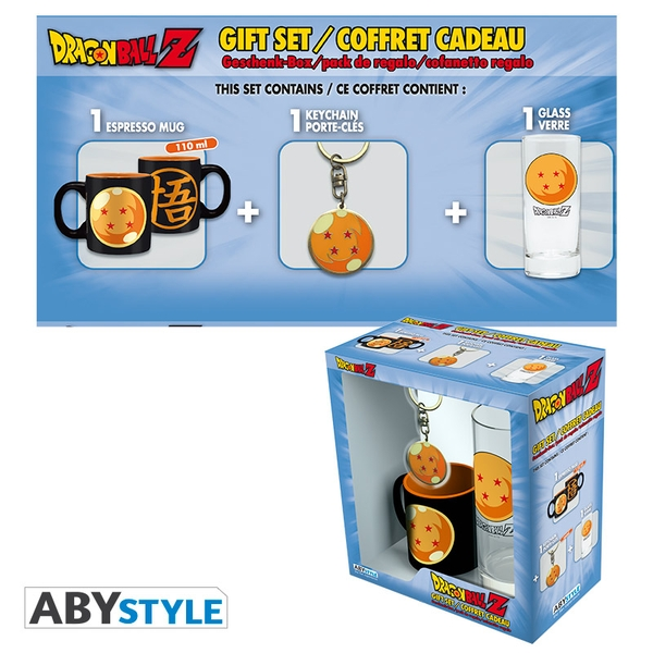 Dragon Ball - Glass 29cl + Keyring + Mini Mug Crystal Ball Gift Box