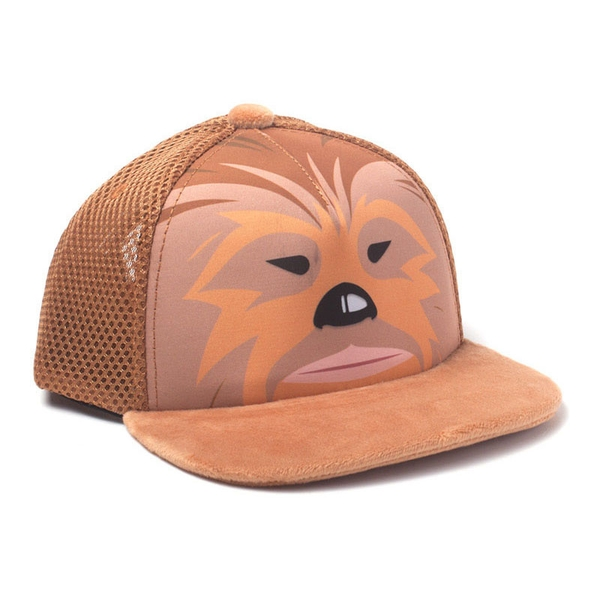 Star Wars - Chewbacca Face Unisex Dual Pop-Lock Fitting Strap Cap - Orange