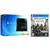 PlayStation 4 (500GB) Black Console + Assassin's Creed Unity