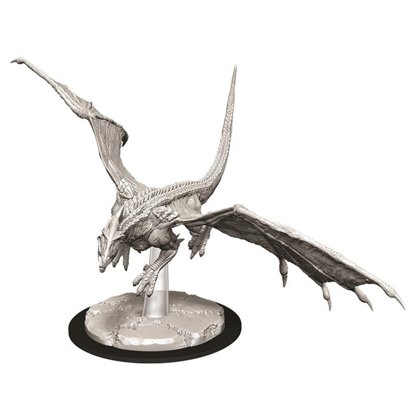 Dungeons & Dragons Nolzur's Marvelous Unpainted Miniatures - Young White Dragon