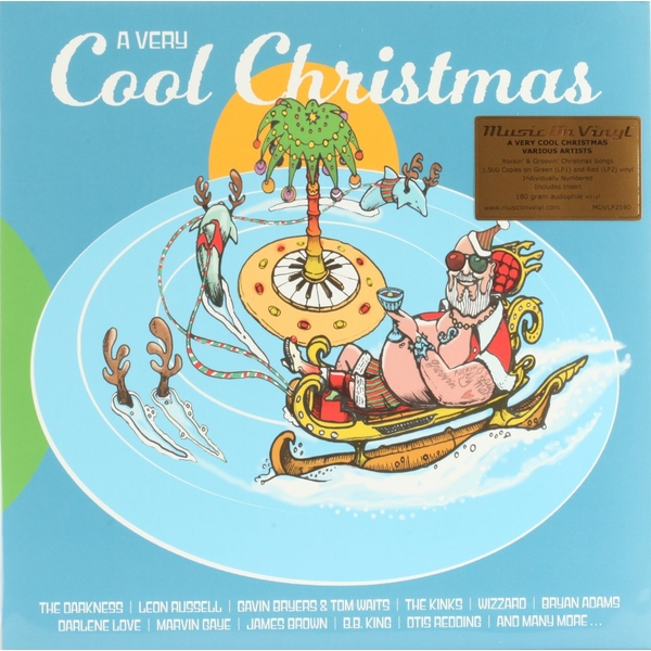 Various - A Very Cool Christmas Limited Edition Transparent Green & Red Vinyl