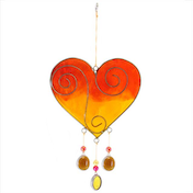 Yellow/Orange Heart Suncatcher