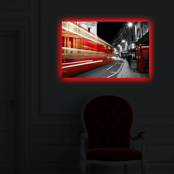 4570DACT-50 Multicolor Decorative Led Lighted Canvas Painting
