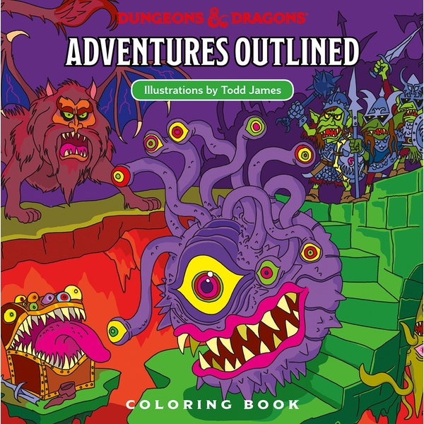 Dungeons & Dragons (DDN) Adventures Outlined Coloring Book