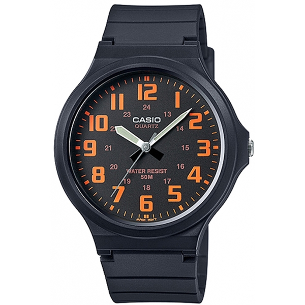 Casio Mens Analogue Watch with Resin Strap Black