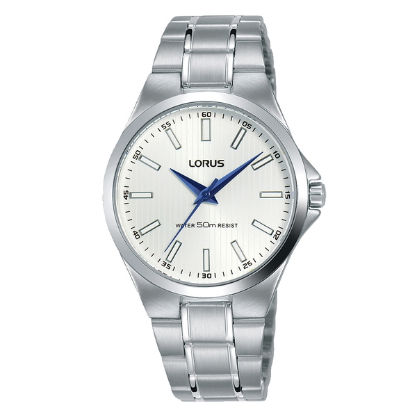 Lorus RG233PX9 Ladies Stainless Steel Bracelet Watch with White Sunray Dial