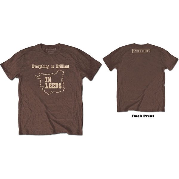 Kaiser Chiefs - Everything Is Brilliant Unisex Small T-Shirt - Brown