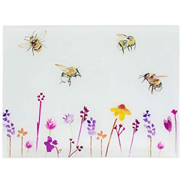 Busy Bees Glass Cutting Board By Lesser & Pavey