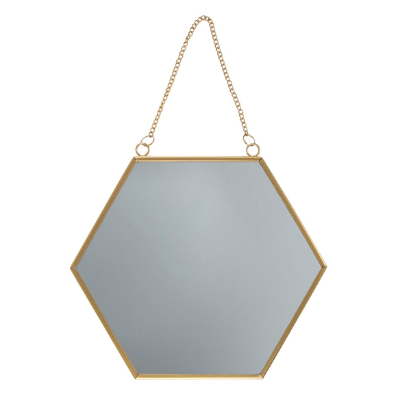 Sass & Belle Touch Of Gold Hexagon Mirror