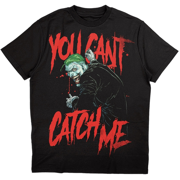 DC Comics - Joker You Can't Catch Me Unisex Large T-Shirt - Black