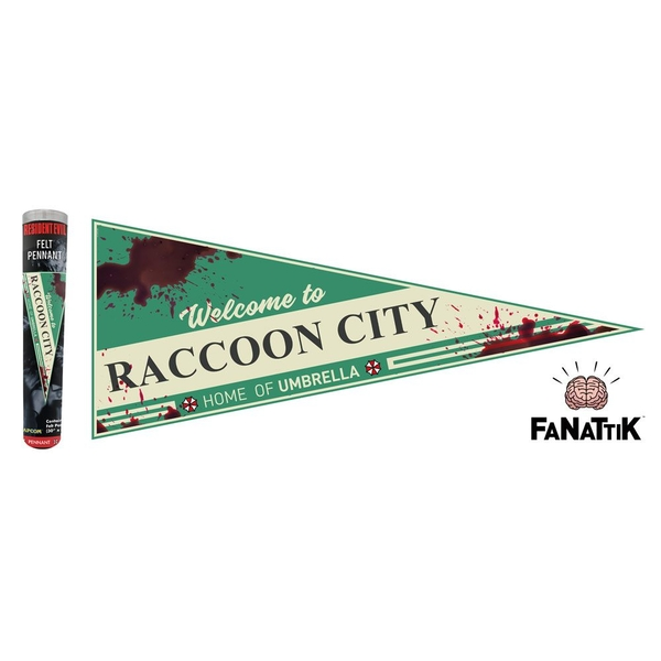 Resident Evil Pennant Welcome To Raccoon City