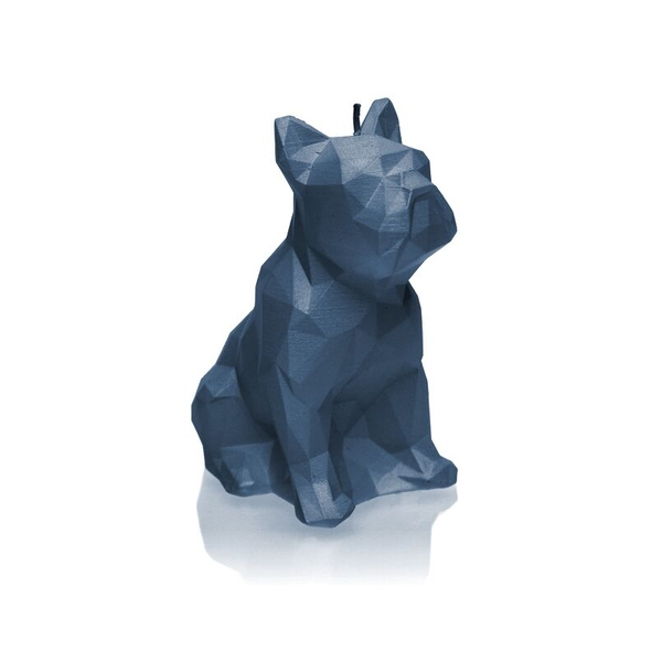 Jeans Low Poly Bulldog Candle