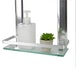 Tempered Glass Shelf with Aluminium Rail | M&W 2 Tier - Image 3