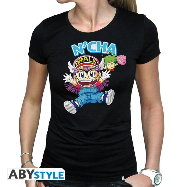Dr Slump - Arale & Gacchan Women's Large T-Shirt - Black - Image 1