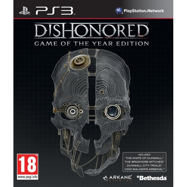Dishonored Game Of The Year (GOTY) Game PS3
