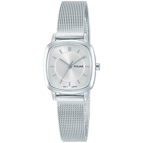 Pulsar PH8375X1 Ladies Stainless Steel Mesh Bracelet With Silver Dial 50M Watch