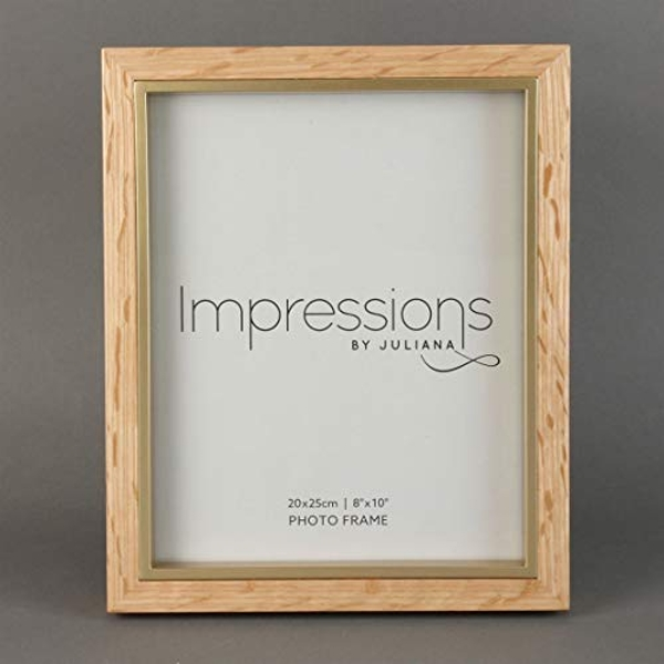 """8"""" x 10"""" - Impressions Wooden Photo Frame Natural Finish"""