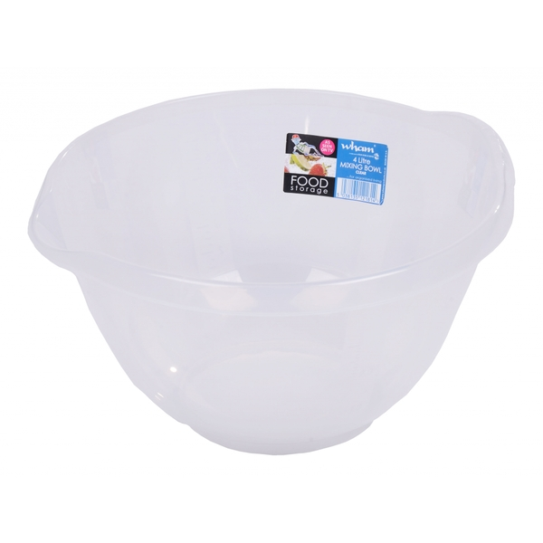 Wham Clear Mixing Bowl 4ltr
