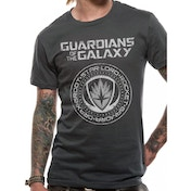 Guardians Of The Galaxy 2 Crest Unisex Medium T-Shirt - Grey