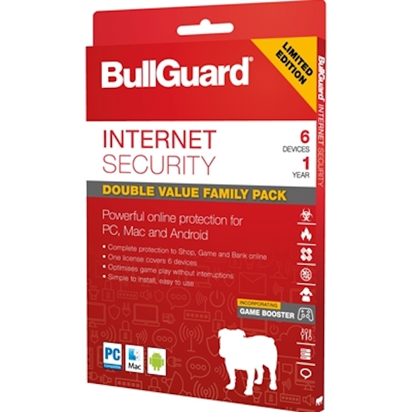 Bullguard Limited Edition Internet Security 1Year/6 Device Multi Device Retail License English