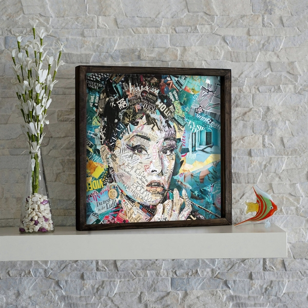 KZM275 Multicolor Decorative Framed MDF Painting