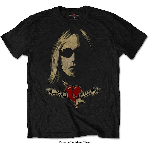 Tom Petty & The Heartbreakers - Shades & Logo Unisex XX-Large T-Shirt - Black