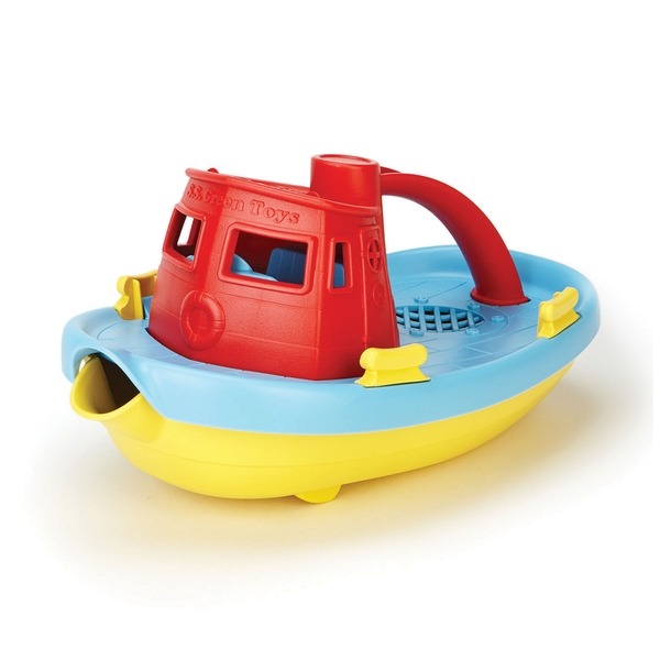 Green Toys Tug Boat Red