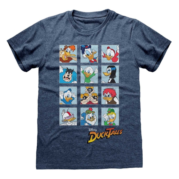 Ducktales - Squares Unisex Small T-Shirt - Blue