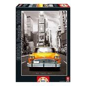 EDUCA USA New York Taxi No1 Coloured Black & White 1000 Piece Jigsaw Puzzle
