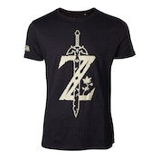 Nintendo Legend of Zelda - Big Z Logo with Sword Men's Small T-Shirt - Black