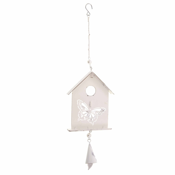 Metal Birdhouse With Butterfly Cutout by Heaven Sends