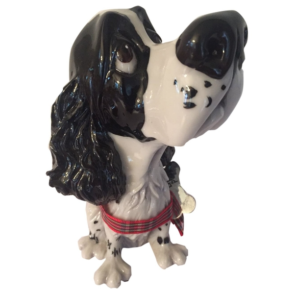Little Paws Figurines Sam - Springer Spaniel Black & White