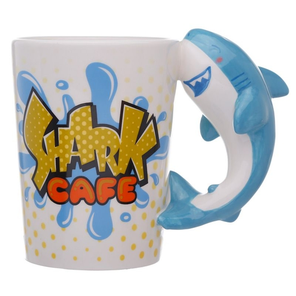 Shark Cafe Shark Shaped Handle Mug