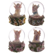 Flower Fairy Mini Waterball (Pack Of 4) Snow Globe
