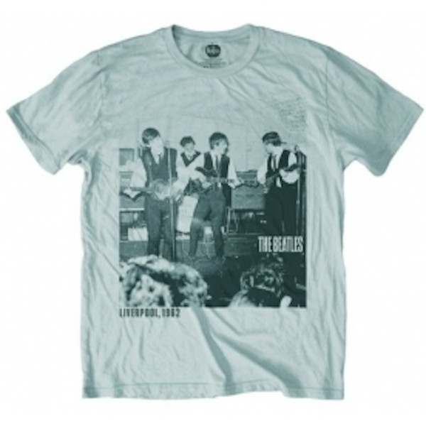 Beatles Cavern 1962 Silver Mens T Shirt: Large