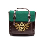 Nintendo Legend of Zelda Golden Embroidered Hylian Royal Crest Emblem with Embossed Triforce Emblem Pattern Backpack