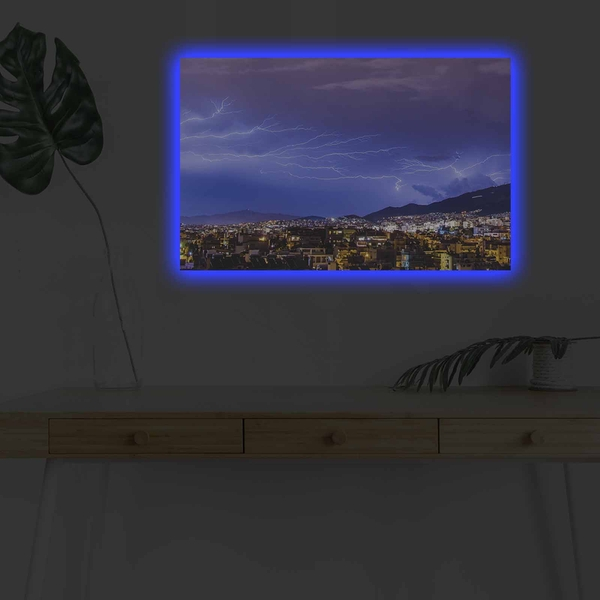 4570DHDACT-169 Multicolor Decorative Led Lighted Canvas Painting