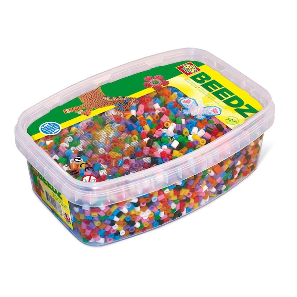 SES Creative - Children's Beedz Iron-on Beads Mosaic Box Tub (Multi-colour)