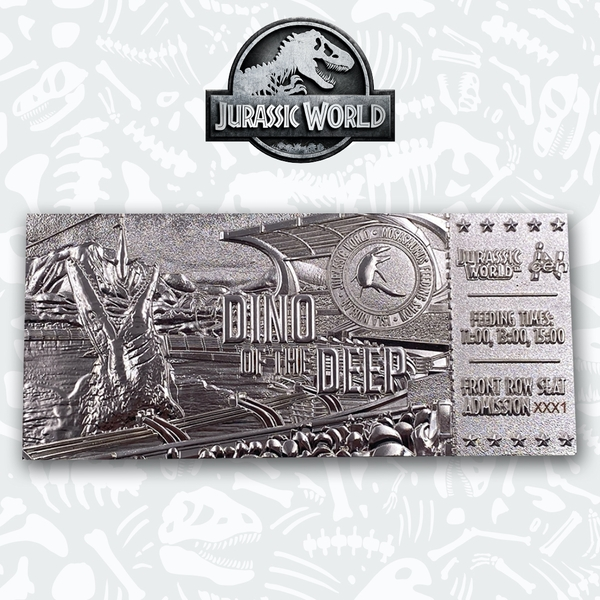 Jurassic World Mosasaurus Silver Collectable Ticket
