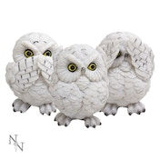 3 Wise Owls Statue
