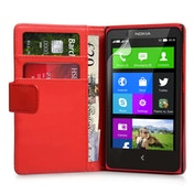 Yousave Nokia X Leather-Effect Wallet Case - Red