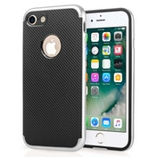 Apple iPhone 7 Carbon Fibre TPU + PC Gel Case - Silver