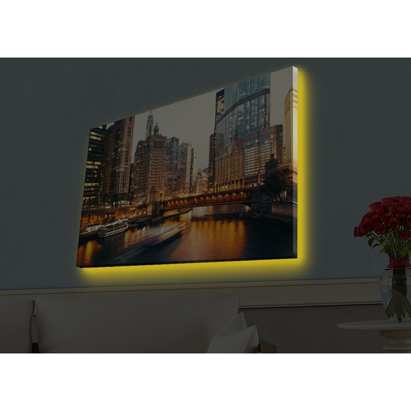 4570HDACT-088 Multicolor Decorative Led Lighted Canvas Painting